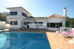 Detached 2 + 1 bed villa with pool and sea views...